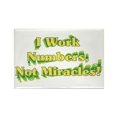 Numbers, Not Miracles Rectangle Magnet