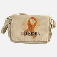 Leukemia Love Hope Bird Messenger Bag