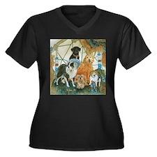 Dreamcatcher Women's Plus Size V-Neck Dark T-Shirt