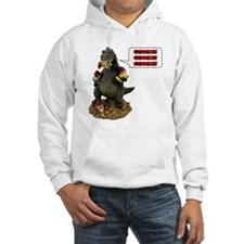 Godzilla Eating Gnomes Left Hoodie Sweatshirt