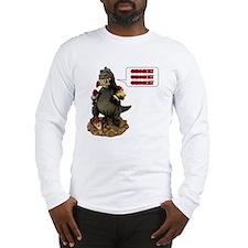 Godzilla Eating Gnomes Left Long Sleeve T-Shirt