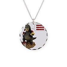 Godzilla Eating Gnomes Left Necklace