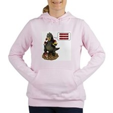 Godzilla Eating Gnomes L Women's Hooded Sweatshirt