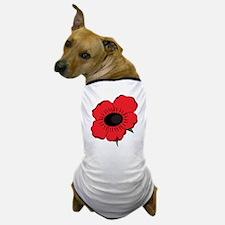 Poppy Flower Dog T-Shirt