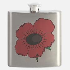 Poppy Flower Flask