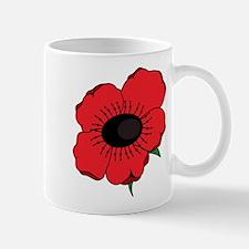 Poppy Flower Mugs