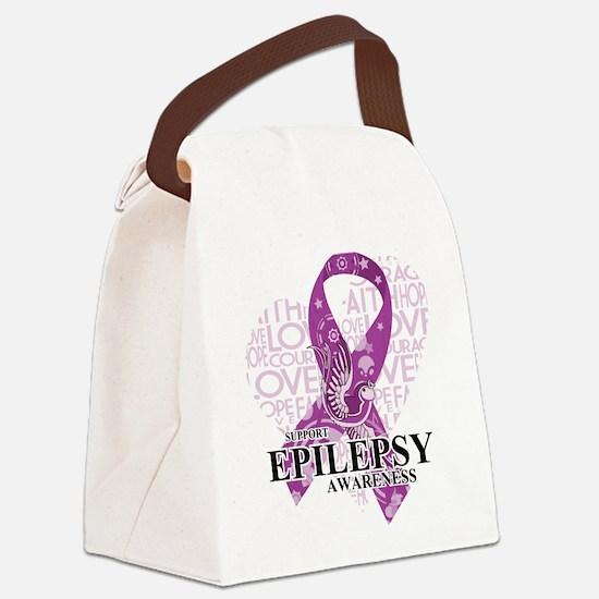 Epilepsy Love Hope Bird Canvas Lunch Bag