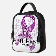 Epilepsy Love Hope Bird Neoprene Lunch Bag