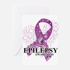 Epilepsy Love Hope Bird Greeting Cards (Pk of 20)