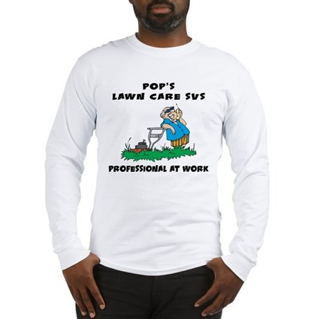 Funny lawn care service long sleeve t shirt for Lawn care t shirt designs