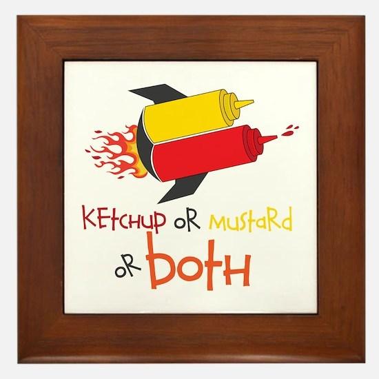 Ketchup Or Mustard or both Framed Tile