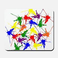 Colorful splatters Mousepad