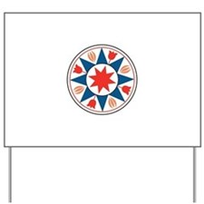 Eight Pointed Star Yard Sign