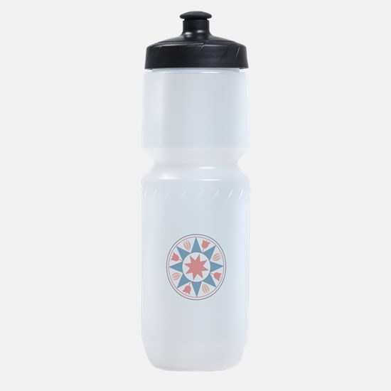 Eight Pointed Star Sports Bottle