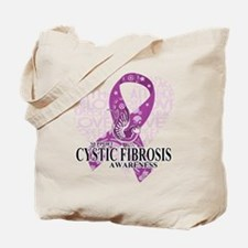 Cystic Fibrosis Love Hope Bird Tote Bag