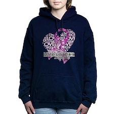 Pancreatic Love Hope Bir Women's Hooded Sweatshirt