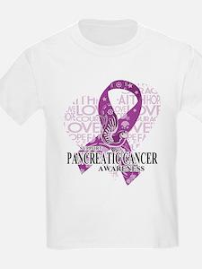 Pancreatic Love Hope Bird T-Shirt