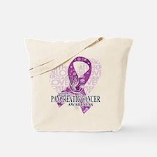 Pancreatic Love Hope Bird Tote Bag