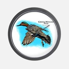 Green-Winged Teal Wall Clock