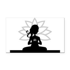 Cool Yoga Rectangle Car Magnet