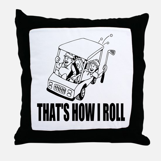 Funny Golf Quote Throw Pillow
