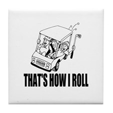 Funny Golf Quote Tile Coaster