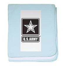 US ARMY White Star baby blanket