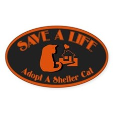 Save A Life Oval Bumper Stickers