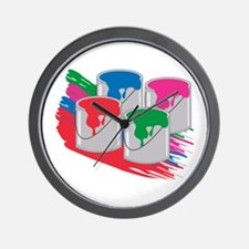 PaintCans Wall Clock