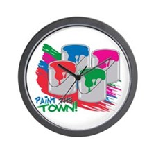 Paint The Town! Wall Clock