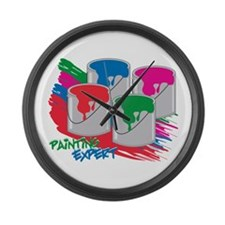 Painting Expert Large Wall Clock