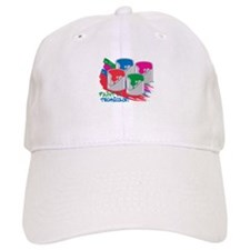 Paint In Technicolor! Baseball Baseball Cap