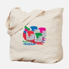 Paint In Technicolor! Tote Bag