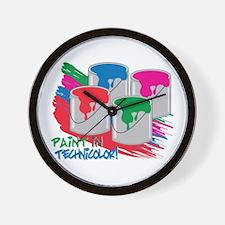 Paint In Technicolor! Wall Clock