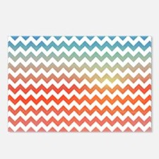 Pastel chevron Postcards (Package of 8)