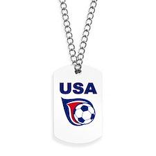 USA soccer Dog Tags