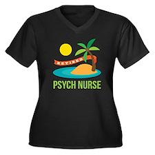 Retired Psyc Women's Plus Size V-Neck Dark T-Shirt