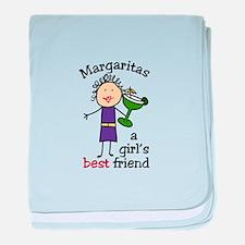 Margaritas baby blanket