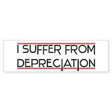 Depreciation Account Bumper Bumper Sticker