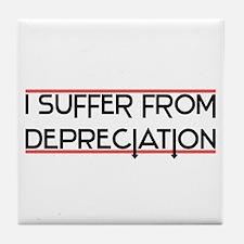 Depreciation Account Tile Coaster