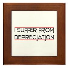 Depreciation Account Framed Tile