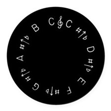 Chromatic Pitch Pipe Round Car Magnet