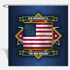 6th Wisconsin (Diamond).png Shower Curtain