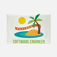 Retired Software engineer Rectangle Magnet