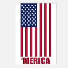 Merica American Flag Postcards (Package of 8)