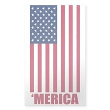 Merica American Flag Decal