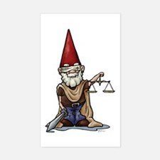 Justice Gnome Rectangle Decal