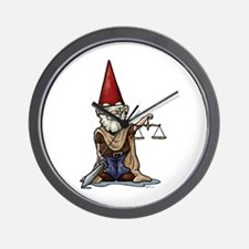 Justice Gnome Wall Clock