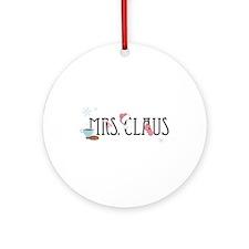 Mrs Claus Ornament (Round)