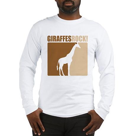 Giraffes Rock! Long Sleeve T-Shirt